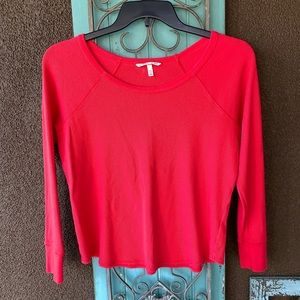 Victoria's secret red thermal shirt long sleeve